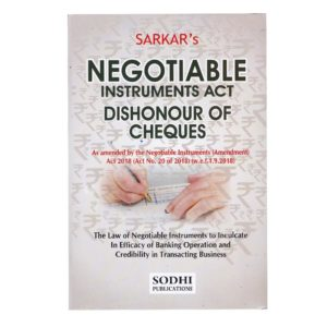 Sarkar's Negotiable Instruments Act Dishonour of Checks