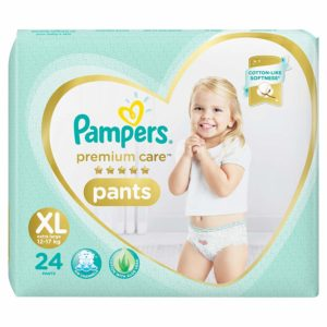 Pampers Premium Care Pants Diapers X-Large XL 24 Count