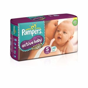 Pampers Diapers Active Baby Small 46N