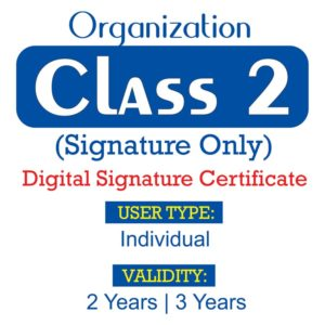 Class 2 Org Sign Only
