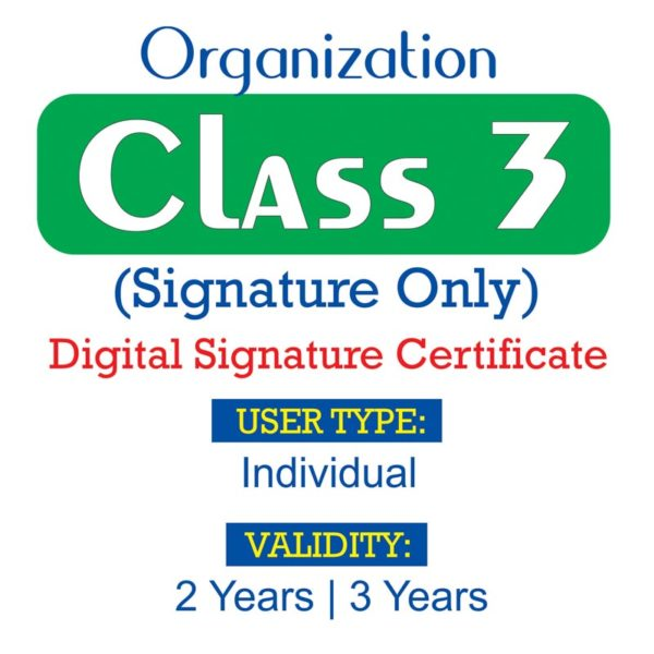 CLASS 3 ORG SIGNATURE ONLY